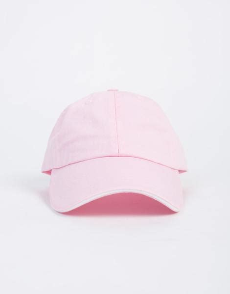 light pink polo baseball cap striped adjustable baseball cap simple baseball cap