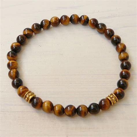 mm tiger eye bracelet womens  mens bracelet