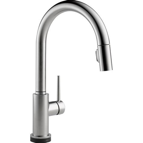 touch2o kitchen faucet delta trinsic kitchen faucet touch2o