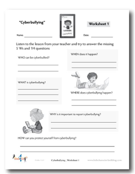 Bullying Worksheets by 18 Best Images Of Printable Bullying Activity Worksheets