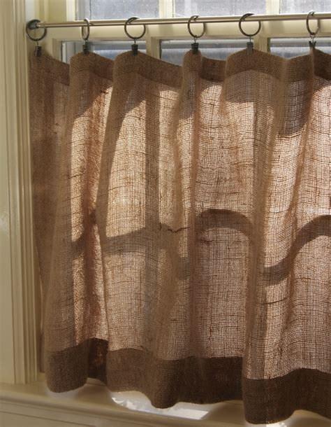 how to make burlap cafe curtains guest post recipe