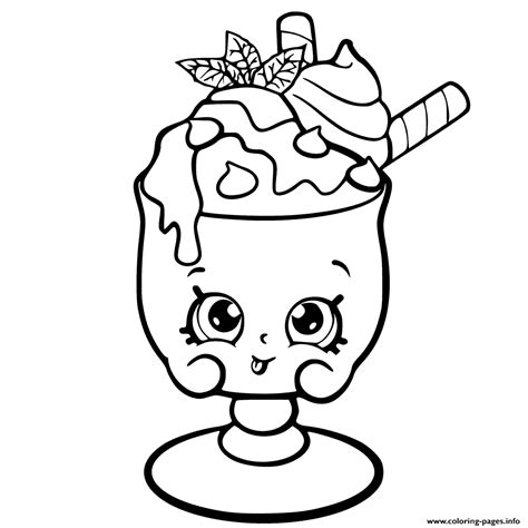 coloring book page from photo choc mint charlie from shopkins season 6 chef club