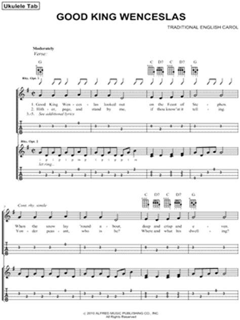 printable lyrics good king wenceslas traditional quot good king wenceslas quot ukulele tab download
