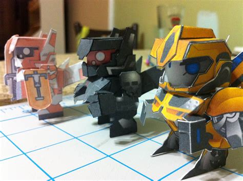 How To Make A Paper Transformer Bumblebee - transformers prime bumblebee papertoy