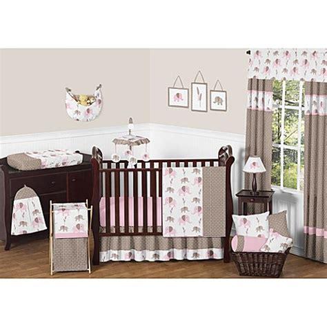 Sweet Jojo Designs Crib Bedding Set Buy Sweet Jojo Designs Mod Elephant 11 Crib Bedding Set In Pink Taupe From Bed Bath Beyond