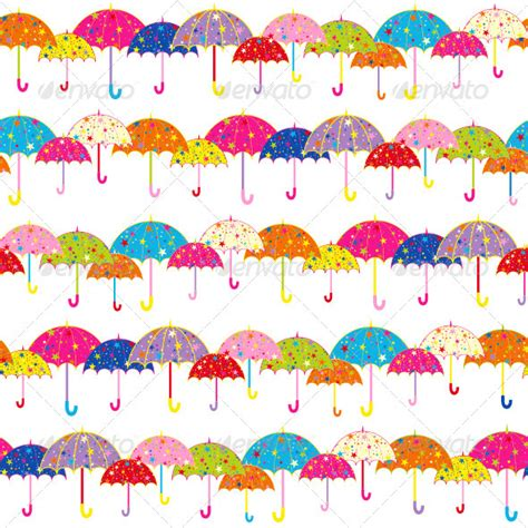 pattern background zip colorful umbrella seamless pattern graphicriver
