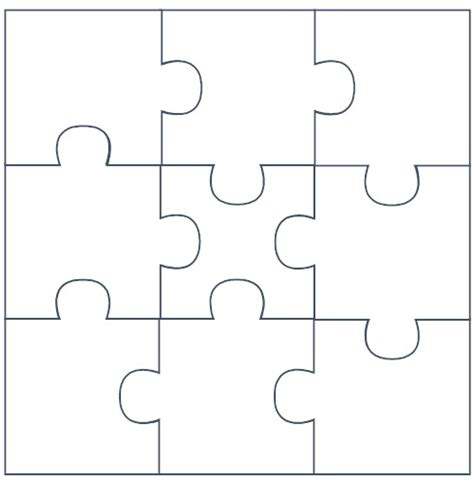 Puzzle Template 9 Pieces by 7 Best Images Of 9 Jigsaw Puzzle Template Printable