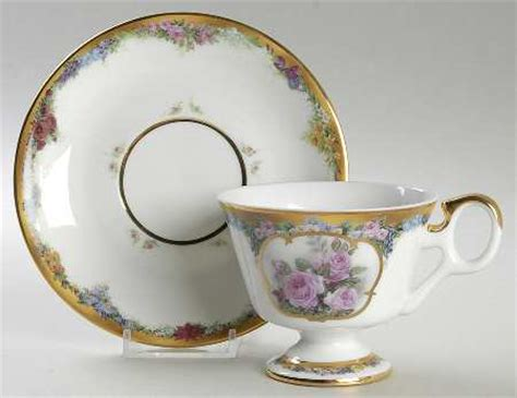 bradford editions flower of the month cup saucer at