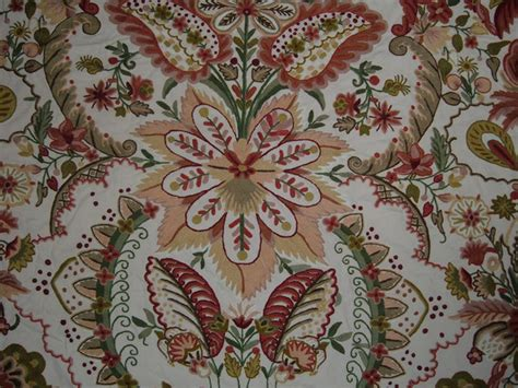 Crewel Upholstery Fabric by Crewel Fabric Garden Of Cotton Craftsman