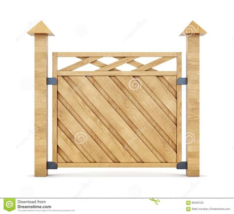 white section section of the white wooden fence stock image