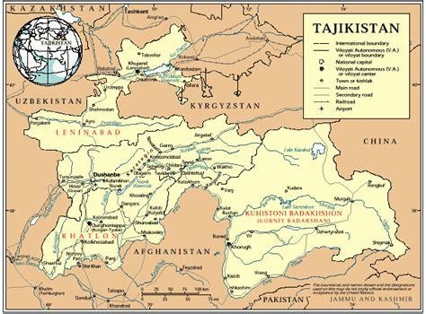 tajikistan map tajikistan civil war