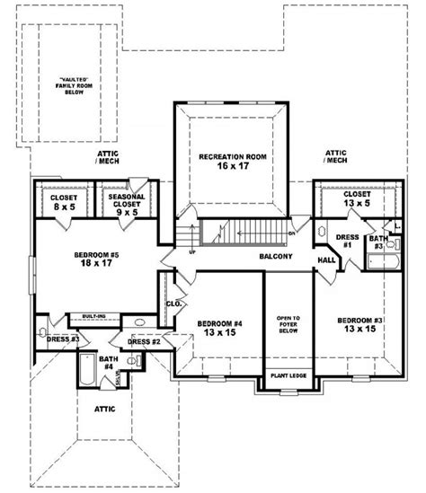 5 story house plans 653935 two story 5 bedroom 4 5 bath french country