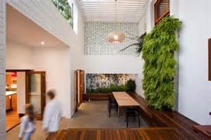 Indoor Courtyard Stunningly Reinvented Australian Home Features Towering
