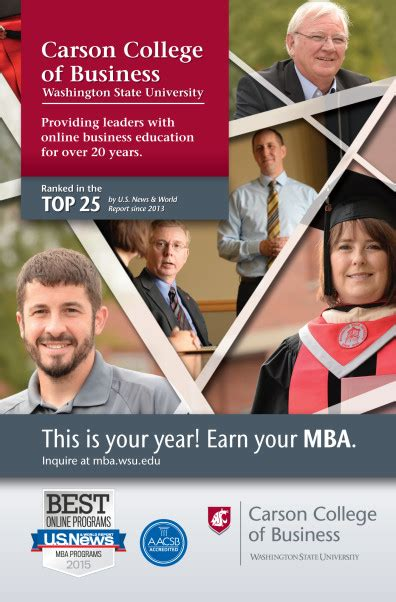 Top 25 One Year Mba Programs by Washington State S Mba Programs Among