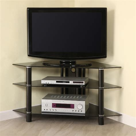 inch tv stand black corner inspirations and small for walker edison bermuda 44 inch corner tv stand black glass