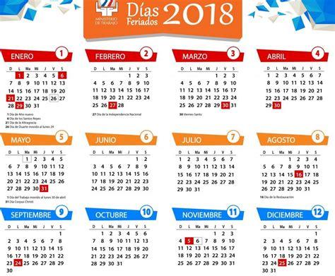 Calendario De Feriados 2018 Calendario Feriados A 241 O 2018 Tu Rep 250 Blica