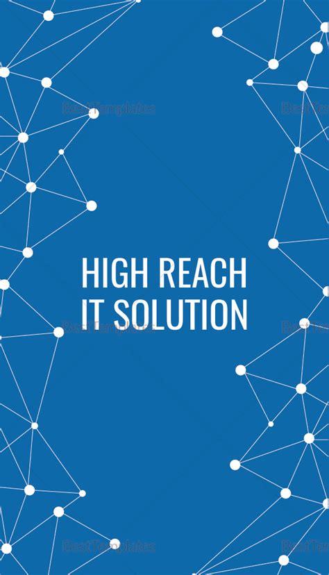 Information Technology Business Card Designs