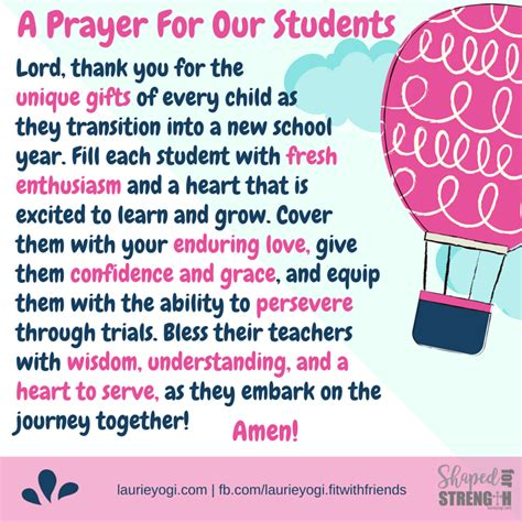 prayer for the new school year back to school prayer for students christian quotes