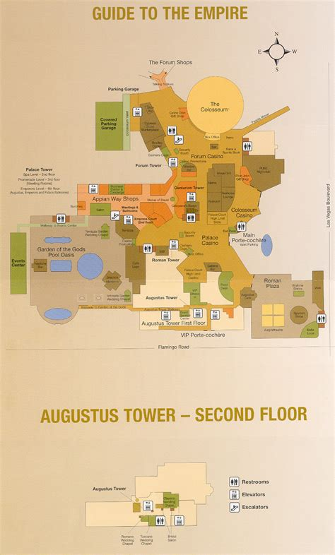 caesars palace map caesars palace hotel map caesars palace map