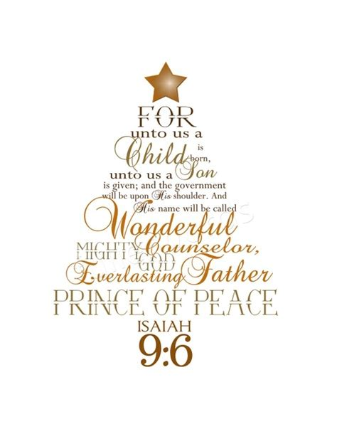 bible verses for christmas tree isaiah 9 6 digital printable