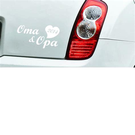 Aufkleber F Rs Auto Oma Und Opa by Auto Aufkleber Oma Und Opa 2014 Gro 223 Eltern In Wunschfarbe