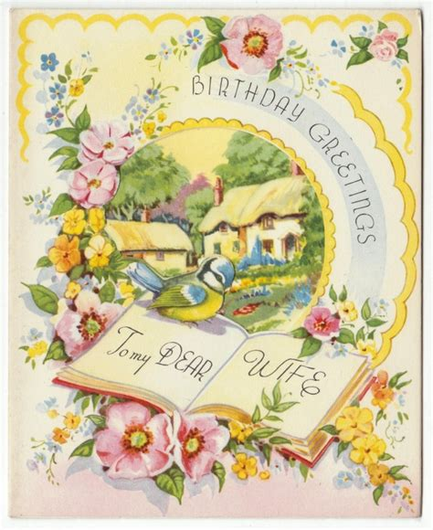 Birthday Greeting Cards For Vintage Birthday Greetings Blogging Cards Love Pinterest