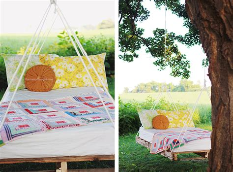 diy pallet bed swing diy pallet swing bed 187 the merrythought