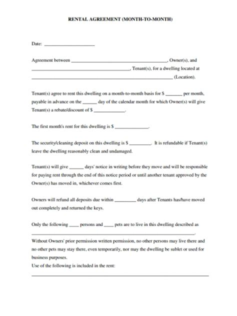 blank rental agreement template classic blank contract form sle with date and seal