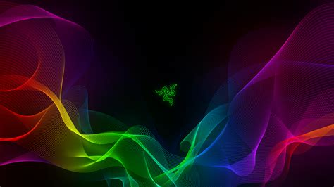 razer background wallpaper razer abstract colorful waves 4k technology