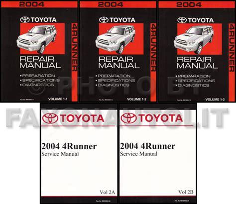 service manual best car repair manuals 2004 toyota tacoma xtra transmission control 2001 2004 toyota 4runner repair manual set