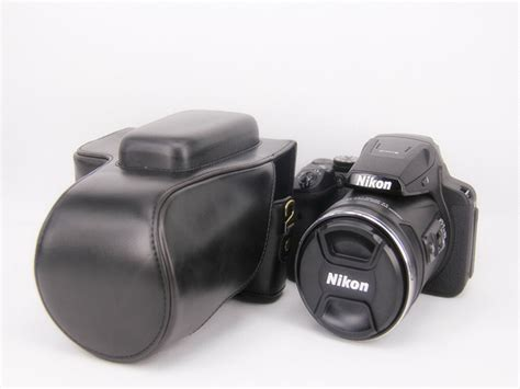 protective leather bag cover for nikon coolpix p900 p900s digital ebay