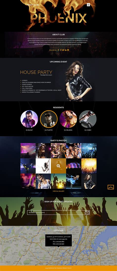 themes in the story night night club wordpress template