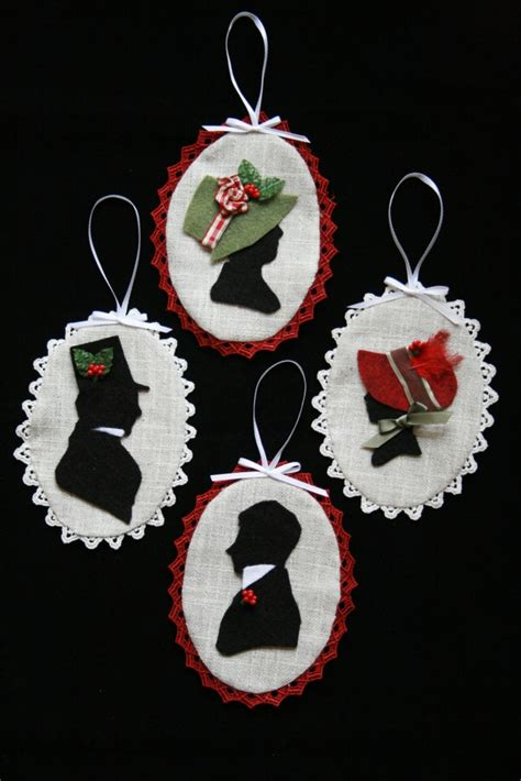 regency silhouette christmas ornament