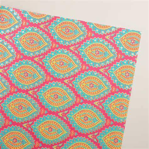 Handmade Gift Wrap - pink paisley handmade gift wrap world market