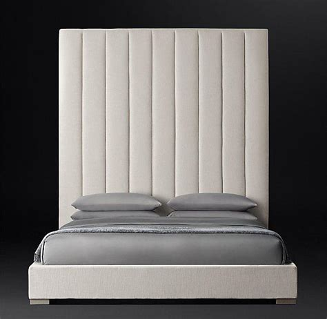 modena vertical channel panel fabric platform bed