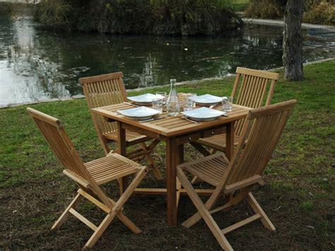 salon de jardin 4 personnes salon de jardin quot antigua quot en teck 4 6 personnes table 90 140 x 90 x 75 cm 6 chaises 56078