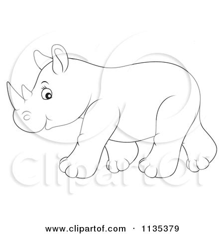 baby rhino coloring page baby rhino clipart clipart kid