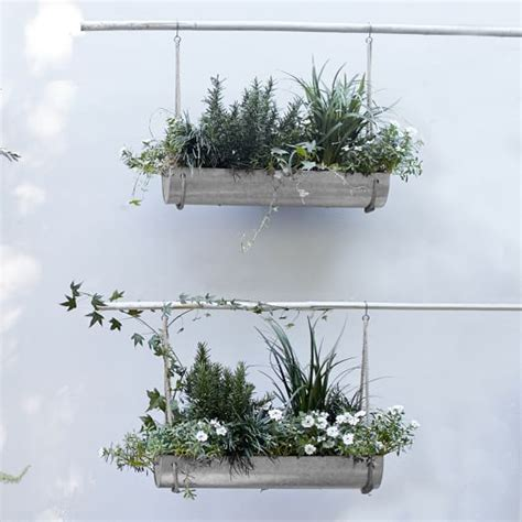 Industrial Hanging Planter West Elm West Elm Wall Planter