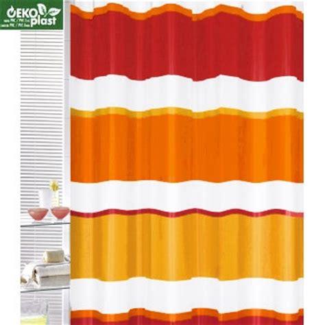 red orange shower curtain red orange yellow stripe shower curtain home pinterest