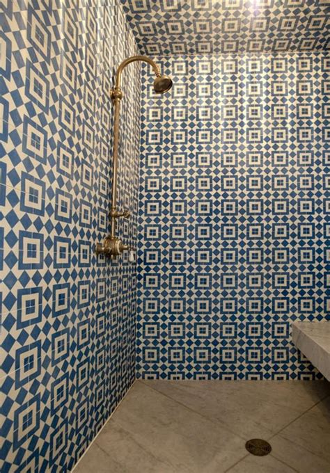 blue pattern wall tiles 36 blue and white bathroom tile ideas and pictures