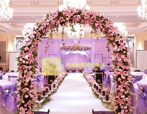 10 x Pink Bride Wedding Fake Lily Artificial Arch Flower