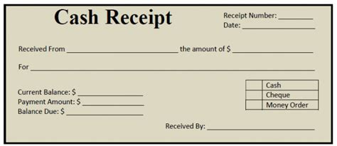 write a receipt template free printable or money receipt template sle