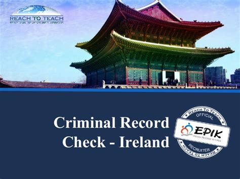 Where Can I Teach With A Criminal Record Ireland Criminal Record Check Teaching In South Korea