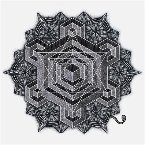 tattoo of mandala 3d dotwork geometric wooorm