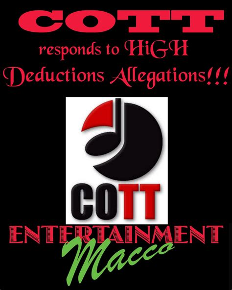 The Cott Entertainment Macco Cott Responds To High Deductions