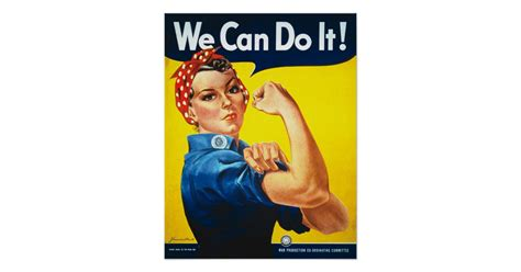 Lengging Sport Can Do It 1014 rosie the riveter we can do it poster print zazzle