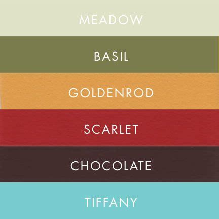 Room Colour Pics meadow basil goldenrod scarlet wedding colors