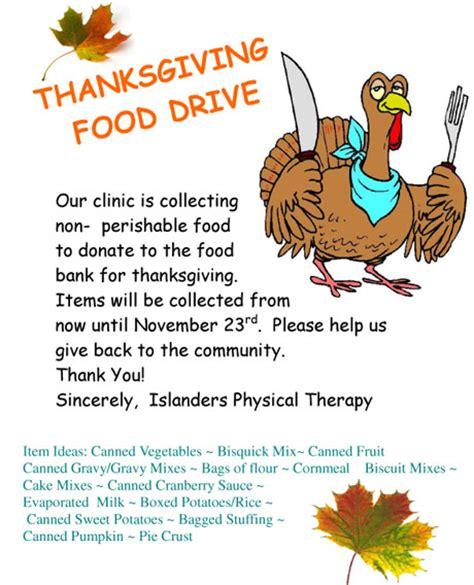 Thursday Breaks Through All The Rain San Juan Island Update Free Thanksgiving Food Drive Flyer Template