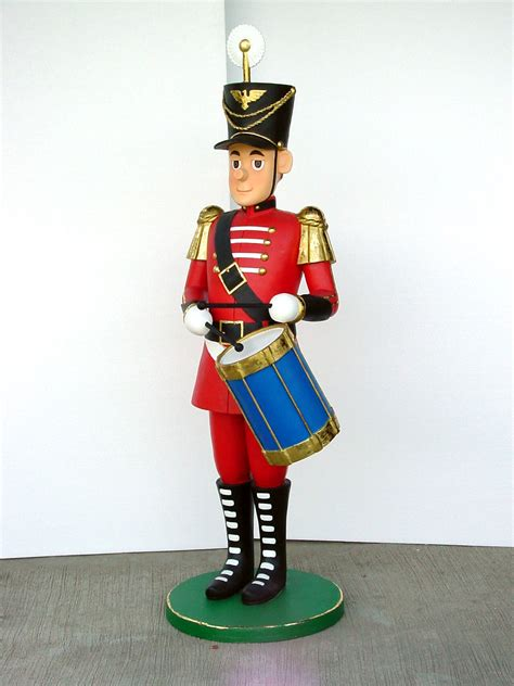 nutcracker drummer tin soldier life size statue 5 5 ft