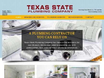 Texas State Plumbing Company   Plumber   San Marcos, TX